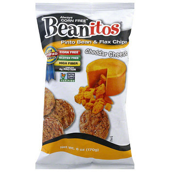 Beanitos Pinto Bean & Flax Cheddar Cheese Chips, 6 oz, (Pack of 6)
