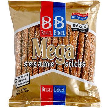 Beigel & Beigel Mega Sesame Sticks Pretzels, 5.25 oz, (Pack of 24)