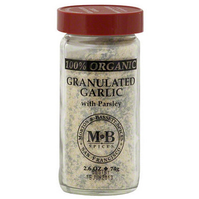 Morton & Bassett Spices 100% Organic Granulated Garlic with Parsley, 2.6 oz, (Pack of 3)
