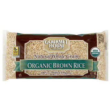 S & W Gourmet House Organic Brown Rice, 14 oz (Pack of 12)