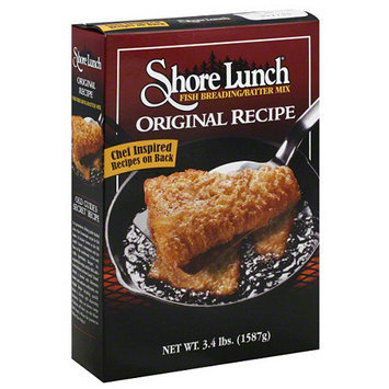 Shore Lunch Original Recipe Fish Breading/Batter Mix, 3.4 lbs, (Pack of 6)