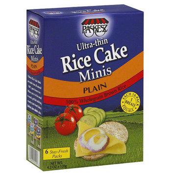 Paskesz Plain Ultra-Thin Rice Cake Minis, 4.2 oz, (Pack of 12)