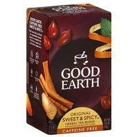 Good Earth Original Sweet & Spicy Caffeine Free Herbal Tea Blend, 1.43 oz, (Pack of 6)