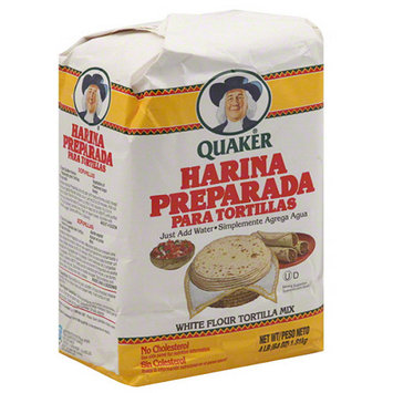 Tacos & Masa Quaker Harina Preparada Para Tortillas White Flour Tortilla Mix, 64 oz, (Pack of 8)