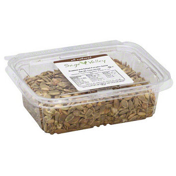 Sage Valley Roasted and Salted Pumpkin Seeds, 11 oz (Pack of 6)