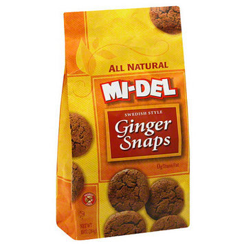 Midel MI-DEL All Natural Ginger Snaps Cookies, 10 oz (Pack of 12)
