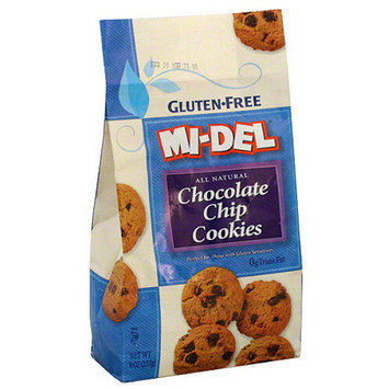 Midel MI-DEL Gluten-Free All Natural Chocolate Chip Cookies, 8 oz (Pack of 12)