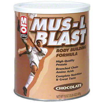 Milo MLO Sports Nutrition Mus-L Blast Chocolate Body Building Formula Protein Powder, 47 oz