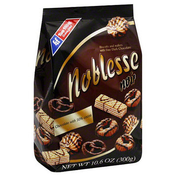 Hans Hoyer Hans Freitag Noblesse Biscuits and Wafers with Fine Dark Chocolate, 10.6 oz, (Pack of 10)