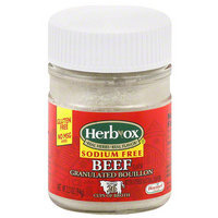 Herb-Ox Sodium Free Beef Granulated Bouillon, 3.3 oz, (Pack of 12)
