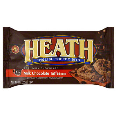 Health Valley Heath English Toffee Bits, 8 oz, (Pack of 12)