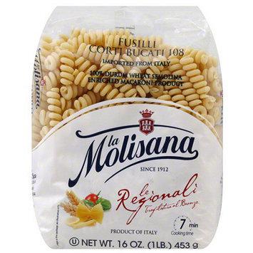 La Morenita La Molisana Fusilli Corti Bucati Pasta, 16 oz, (Pack of 12)