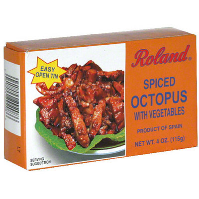Roland Spiced Octopus with Vegetables, 4 oz, (Pack of 10)