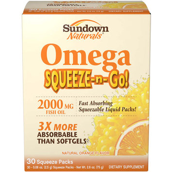 Rexall Sundown, Inc. Omega To Go Squeeze Packs 30 Ct