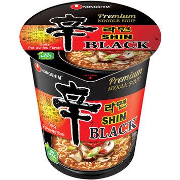 Nongshim Shin Black Spicy Pot-au-feu Flavor Noodle Soup, 3.5 oz, 6 count
