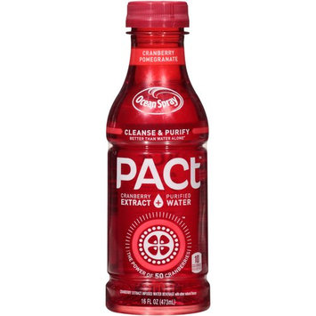 Minute Maid Ocean Spray PACt Cranberry Pomegranate Infused Water Beverage, 16 fl oz