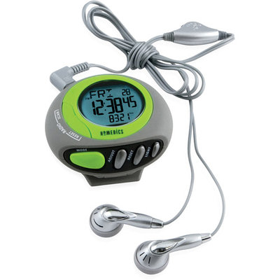 HoMedics 3D Deluxe Pedometer with Built-in FM Radio
