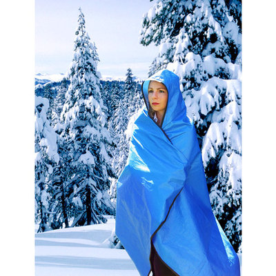 Grabber Hooded All Weather Blanket/Poncho-Blue