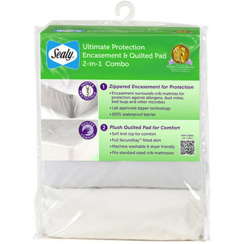 Kolcraft Ultimate Protection Encasement & Quilted Crib Mattress Pad Combo