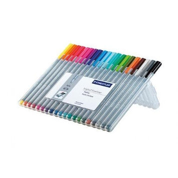 Staedtler, Inc. Staedtler 334SB20BK Triplus Fineliner Pens .3mm Metal Clad Tip 20/PK Assorted