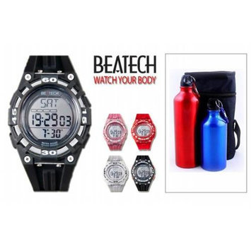 Conair Ovente BHS8000 Heart Rate Monitor with Chest Strap plus Finelife Aluminum Camping Bottle Set