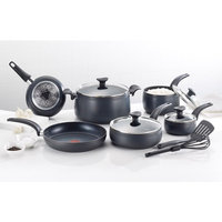 T-fal Matisse Hard Anodized 12 Piece Cookware Set Color: Black