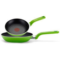 T-fal Excite 2-Piece Non-Stick Frying Pan Set (Set of 2) Color: Red