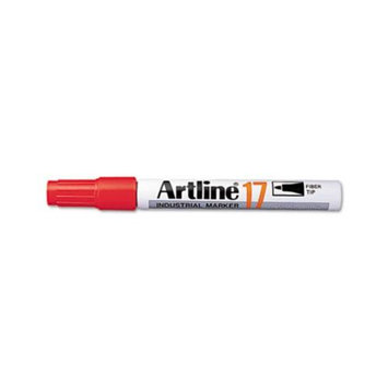 Artline Instant Dry Industrial Permanent Marker, Chisel Tip, Red