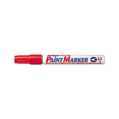 Shachi Artline Paint Marker, Bullet, 2.3mm, Red