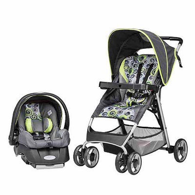 Evenflo Smartfold Starry Night Travel System in Starry Night