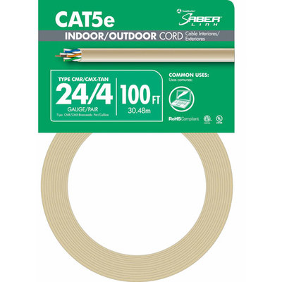 Southwire 100' 24/4 Tan Indoor & Outdoor Cord