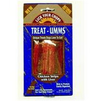 Lick Your Chops Treat-Umms Chicken Strips with Liver