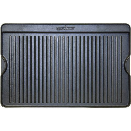 Camp Chef Reversible Pre-Seasoned Cast Iron Grill Griddle, GGG24B