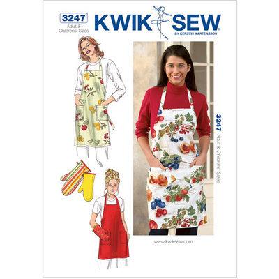 Kwik Sew Pattern Apron and Oven Mitt