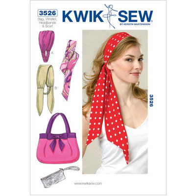 Kwik Sew Pattern Bag, Wristlet, Headbands and Scarf