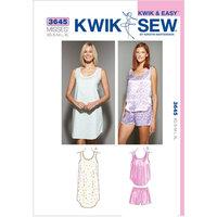 Kwik Sew Sleepwear, (XS, S, M, L, XL)