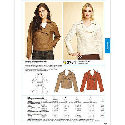 Kwik Sew Pattern Jackets, (XS, S, M, L, XL)