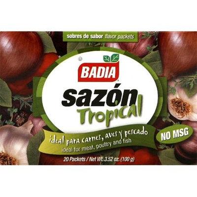 Badia Sazon Tropical No Msg 20Pk -Pack of 15