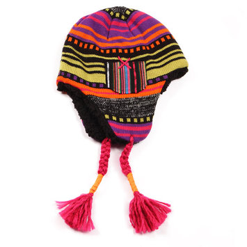 MUK LUKS Guatemalan Faux Fur Helmet - Black