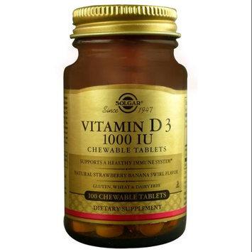 Solgar Vitamin D3 Strawberry Banana Swirl 1000 IU - 100 Chewable Tablets