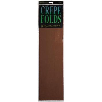 Cindus Crepe Paper Folds brown