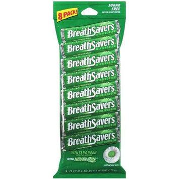 Breath Savers Breath Mints, Wintergreen, Value Pack, 8 rolls