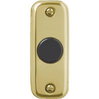 Carlon Metal Button Gold With Black Push DH1805 by Thomas & Betts