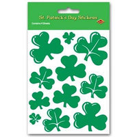 Beistle - 34001 - Shamrock Stickers- Pack of 12
