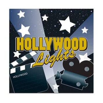 Beistle 58110 Hollywood Lights Luncheon Napkins - Pack of 12
