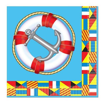 Beistle 58123 Nautical Luncheon Napkins - Pack of 12