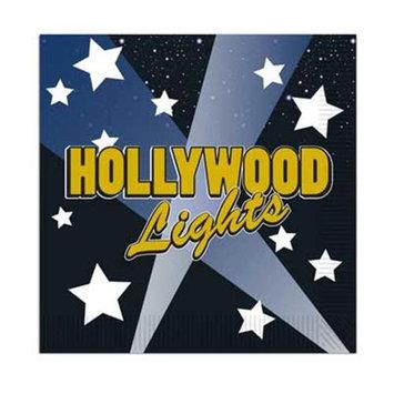 Beistle 58160 Hollywood Lights Beverage Napkins - Pack of 12