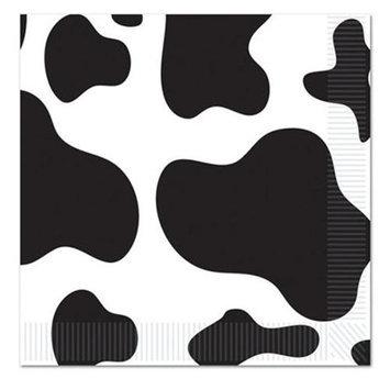 Beistle 58170 Cow Print Beverage Napkins