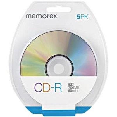 Memorex 52x CD-R Media - 700MB - 5 Pack