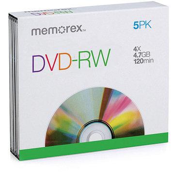 Imation Corporation Memorex 4x DVD-RW Media - 4.7GB - 5 Pack